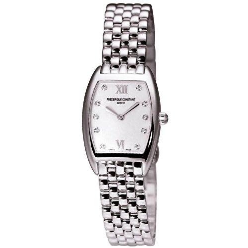 Frederique Constant Art Deco FC-200MPWD1T26B 31mm Silver Steel Bracelet & Case Anti-Reflective Sapphire Women's Watch