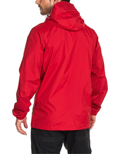 Jack Wolfskin Herren Wetterschutz Jacke Cloudburst Jacket, Red Fire, XXL, 1104951-2593006 -