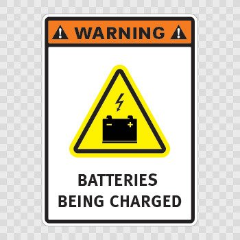 Warning. Batteries Being Charged.... Color print (18 X 13.2 inch) X4379
