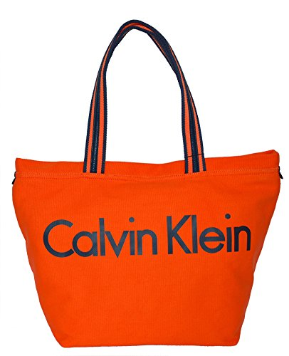 Calvin Klein Medium Packable Canvas Tote Handbag Purse
