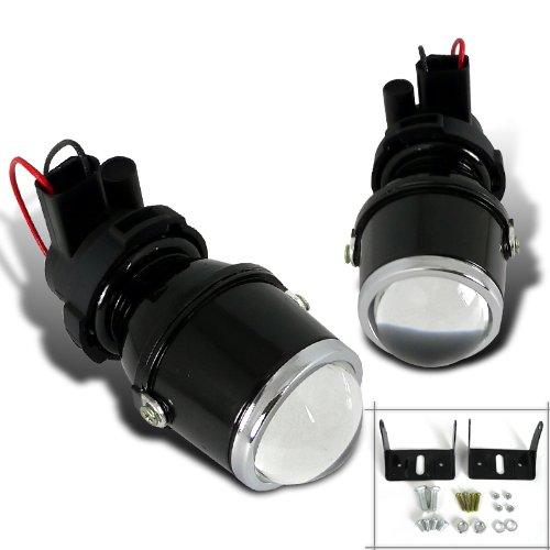 Spec-D Tuning LFP-RND3-WQ H3 12V 55W Halogen Bulb Glass Lens Metal Housing Projector Fog Lights Pair (Fog Light Xj compare prices)