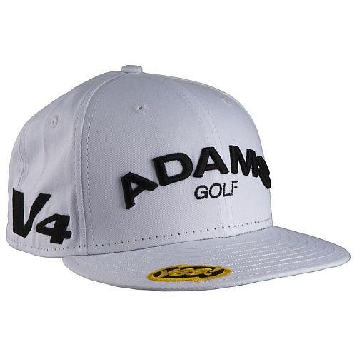 5db49900da0 Adams Golf Flat Bill Hat White 7 1 8 New Era Fitted 59FIFTY Cap NEW ...