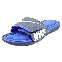 Nike Men\'s Solarsoft Comfort Slide Midnight Navy/White/Game Royal Sandal 12 Men US