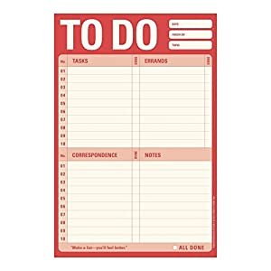 Knock Knock Note Pad, Red To Do