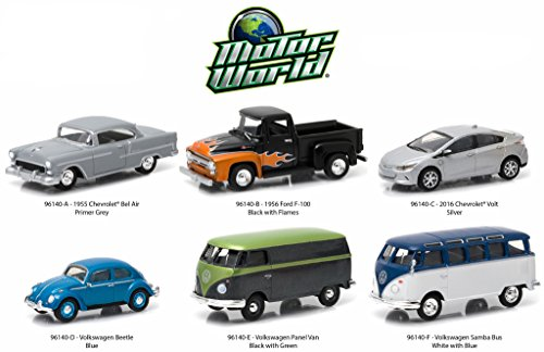 Motor World Series 14, 6pc Diecast Car Set 1/64 by Greenlight 96140 (Chevy Volt Model compare prices)