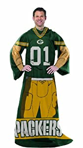 NFL Green Bay Packers Full Body Player Comfy Throw by Northwest