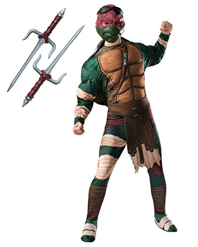 Adult's Mens Deluxe Teenage Mutant Ninja Turtles Movie Raphael Costume Bundle