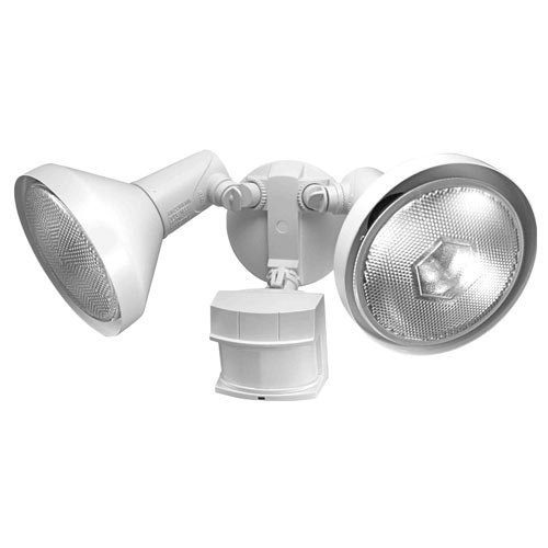 Heath Zenith SL-5318-BZ-E Motion-Sensing Shielded Wide-Angle Twin Security Light, Bronze