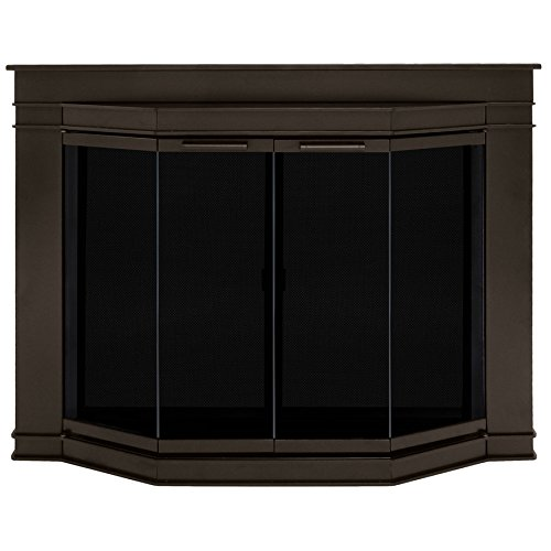 Pleasant Hearth Glacier Bay Small Fireplace Glass Doors (Fireplace Doors Bay compare prices)