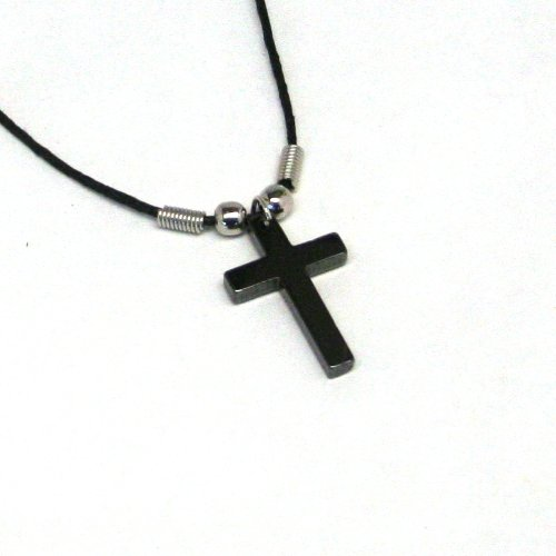 Hematite Cross Necklaces (Pack of 12)