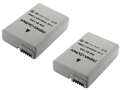 【ロワジャパン社名明記のPSEマーク付】【2014最新ICチップ採用】【2個セット】ニコン COOLPIX P7700 P7800 D5300 D3200 Df の EN-EL14 EN-EL14A 互換バッテリ- 【残量表示&純正充電器対応】