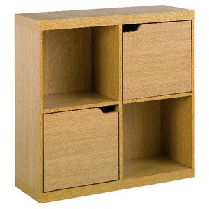 Seattle 2 door storage cube oak effect home style for Door 00 seatac
