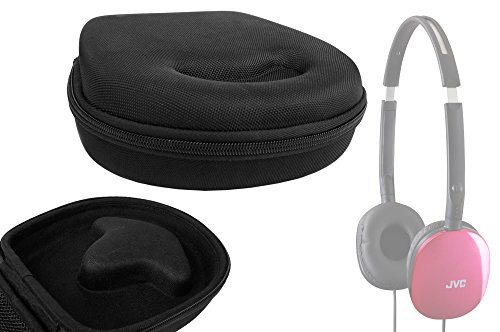 Duragadget Classic Black Rigid Shell Protective Headphone Storage Case Suitable For Jvc Ha-S160-B-E Flats, 7Dayshop R7 Bluetooth 3.0 Wireless Headphones With Handsfree Mic & Super Legend Bluetooth Wireless Head Set/Head Phones With Built-In Mic