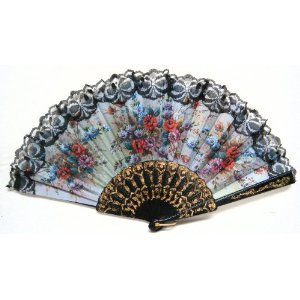 Spanish Hand Fan Decorative Design 15