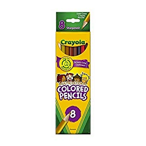 CRAYOLA Multicultural Colored Pencils, 8 Assorted Skin Tone Colors, 6 PACK (Tamaño: 8.1 x 2.4 x 2.4 inches)