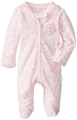 Vitamins Baby Baby-Girls Newborn Little Night Owl Footed Coverall, Pink, New Born