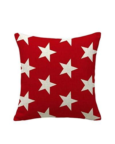 LO+DEMODA Funda De Cojín Red Stars