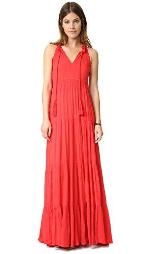Ella moss Women's Miko Tiered Maxi Dress, Flame, X-Small