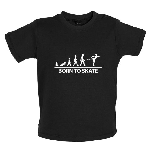 Born to Ice Skate - Baby / Toddler T-Shirt - Black - 12-18 Months