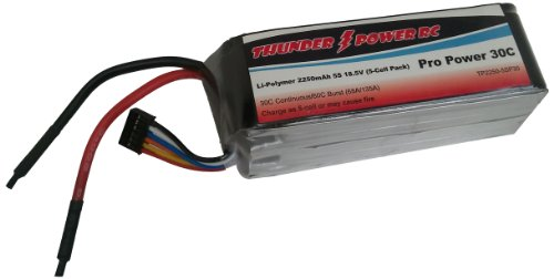 Thunder Power RC 2250mAh 5-CELL/5S 18.5V G4 Pro Power 30C LiPo Battery
