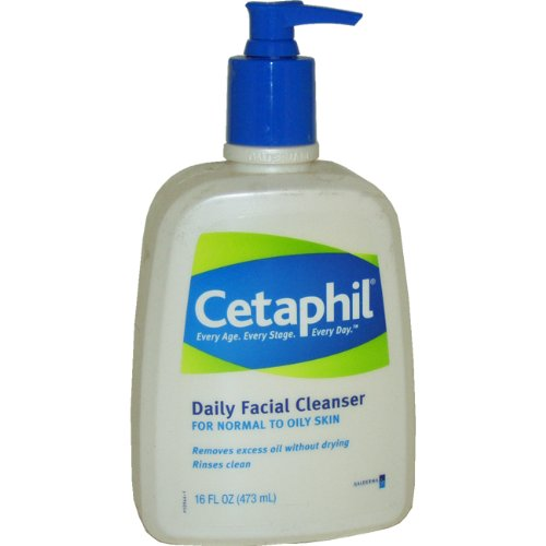 Cetaphil Cetaphil Daily Facial Cleanser, for normal to oily skin, 16.0 -Ounce Bottles (Pack of 2)