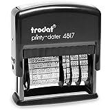 Trodat 4817 Wortbanddrehstempel Printy mit Datum schwarz