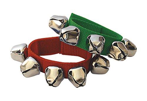 Fuzeau 8442 Bracelet de 5 Grelots Vert/Rouge
