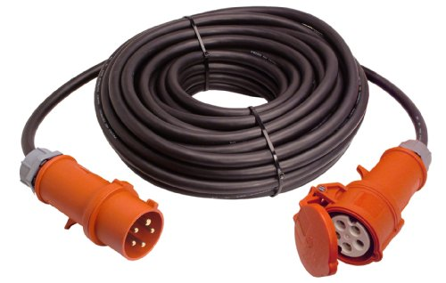 AS-Schwabe 61028 CEE-Verl&#228;ngerung 25 Meter H07RN-F 5G6, 400 Volt, 32 Ampere, 5polig, IP44 Aussenbereich