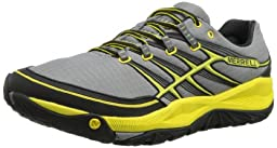 Merrell Men\'s All Out Rush Trail Running Shoe,Wild Dove/Yellow,10.5 M US