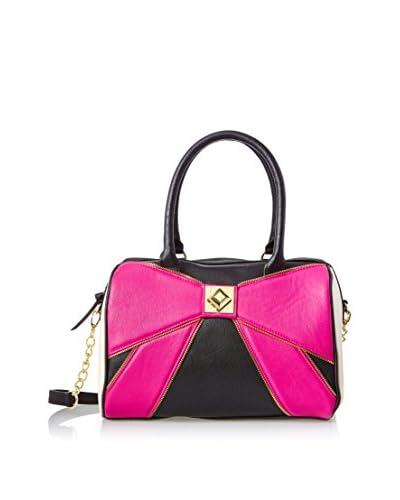 Betsey Johnson Women's Bow Zip Satchel, Pink