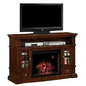Belmont 60 Inch Electric Fireplace Media Console Caramel Oak 28mm6240 Space