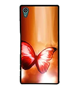 Fuson Premium 2D Back Case Cover Colourful butterfly With Black Background Degined For Sony Xperia Z5 Compact::Sony Xperia Z5 Mini