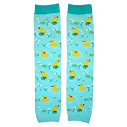 Huggalugs Boys and Girls Blue Just Ducky Legwarmers