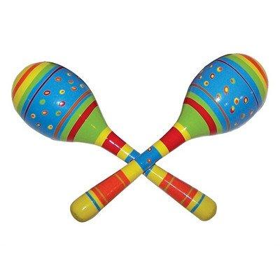 Diddy-Doo-Dahs / Stripe & Dot Wooden Maracas