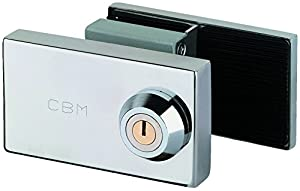 Cerradura para puerta de cristal templado 01-P en BebeHogar.com