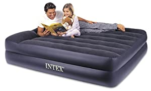 Intex Pillow Rest Queen Airbed with Built-in Electric Pump by Intex