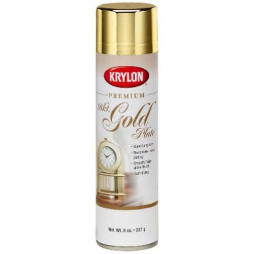 Krylon 1000 Premium Metallic Spray Paint, Gold (Gold Spray Paint compare prices)