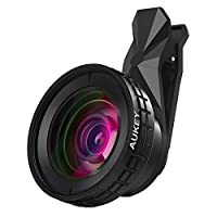 AUKEY Ora iPhone Lens, 140° Wide Angle + 10x Macro Clip-on Cell Phone Camera Lenses Kit for Samsung, Android Smartphones, iPhone