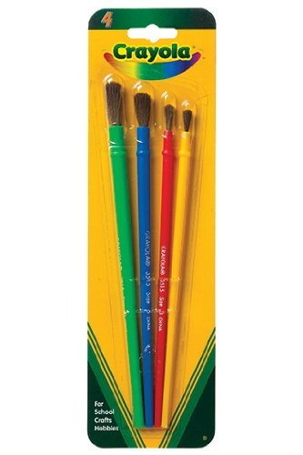 Crayola Brand #05-3515 4CT Paint Brush Set - 1