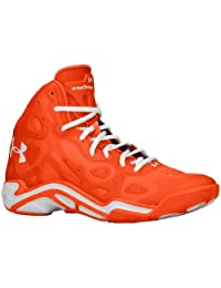 Under Armour Mens UA Micro G Anatomix Spawn 2 Basketball Shoe Team Orange/Team Orange/White