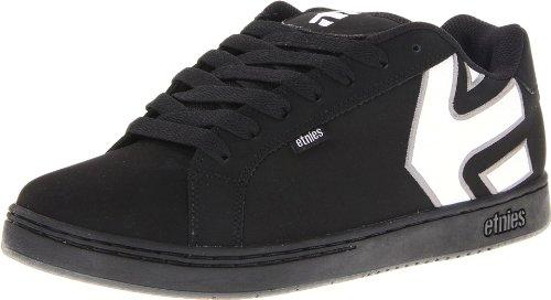 Etnies Men's Fader Skate Shoe,Black/Grey/White,8.5 D US