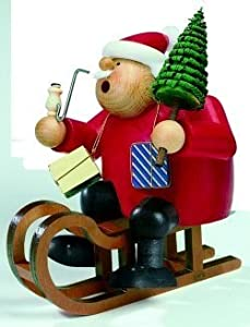 KWO Santa on Sled German Christmas Incense Smoker from KWO