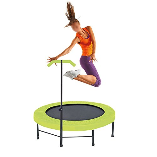 Brooke & Celine Professional Gym Fitness Trampoline 43-Inch 10000's Jump Trainer with Adjustable Handle