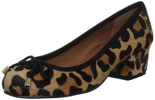 Moda in Pelle Women's Dibley Leather Leopard Ballet DIB04 6 UK