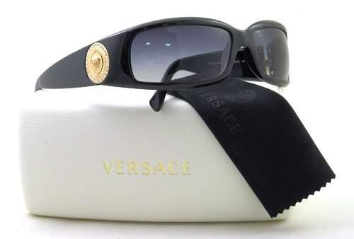 Versace VE4044B Shiny Black Gold / Gray (870/8G)