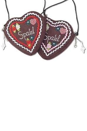 """Original Herzltasche """"Spatzl"""" (braun) pink"""