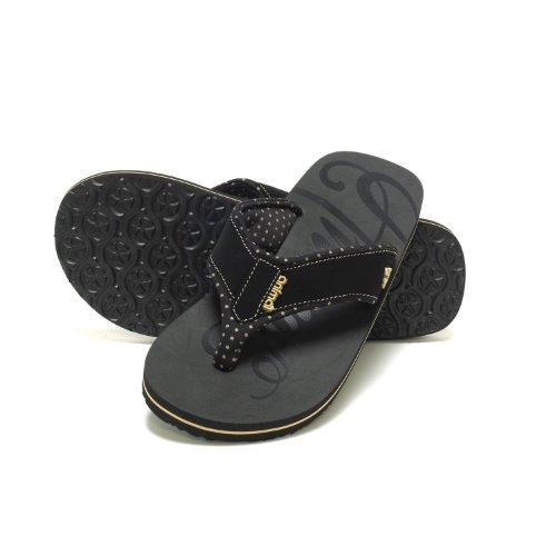 Animal Womens Flip Flops Sandals - Swish Logo