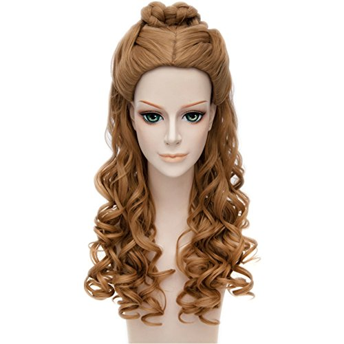 MSHUI Cartoon Movie Cinderella Pretty Curly Banquet Styling Anime Cosplay Wigs