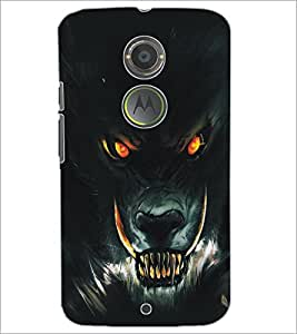 PrintDhaba Wolf D-5136 Back Case Cover for MOTOROLA MOTO X2 (Multi-Coloured)