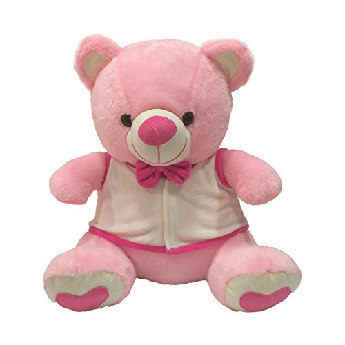 Kuddles-Bow-Teddy-with-Removable-Jacket-By-Ultra-Pink